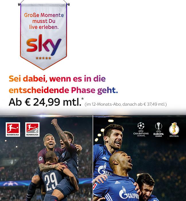 UEFA Champions League © Sky/Thomas Eisenhuth; Fußball Bundesliga © Sky/DFL/Getty Images/Lars Baron