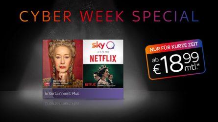 Cyber Week Special - Entertainment Plus inkl. Netflix. Ab € 18,99 mtl.*